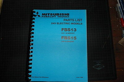 Mitsubishicaterpillar Fbs13 Fbs15 Forklift Parts Manual Book Spare Cat 1994 Oem