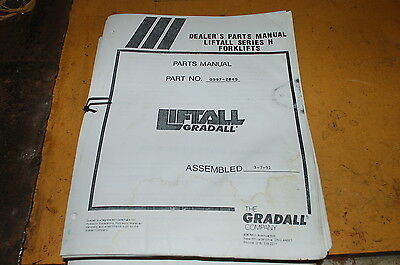 Gradall Series H Telescopic Forklift Material Handler Parts Manual Book Catalog
