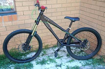 Woodman-Components-D hardtail DH bike