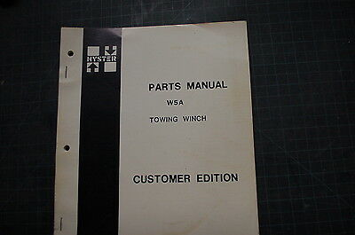 Hyster Towing Winch W5a Parts Manual Book Catalog Crawler Tractor Cat D5 Dozer