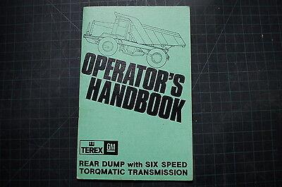 Terex Rear Dump Truck Operator Handbook Manual Guide Operation Rock Quarry Book