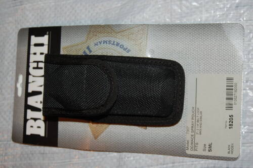 "BRAND NEW BIANCHI ACCUMOLD MODEL 7307 OC/MACE SPRAY POUCH 2"" 2 1/4"" BELT SZ SML"