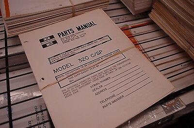 Bucyrus Erie Model 320 C Sp Rough Terrain Truck Crane Parts Manual Book Catalog