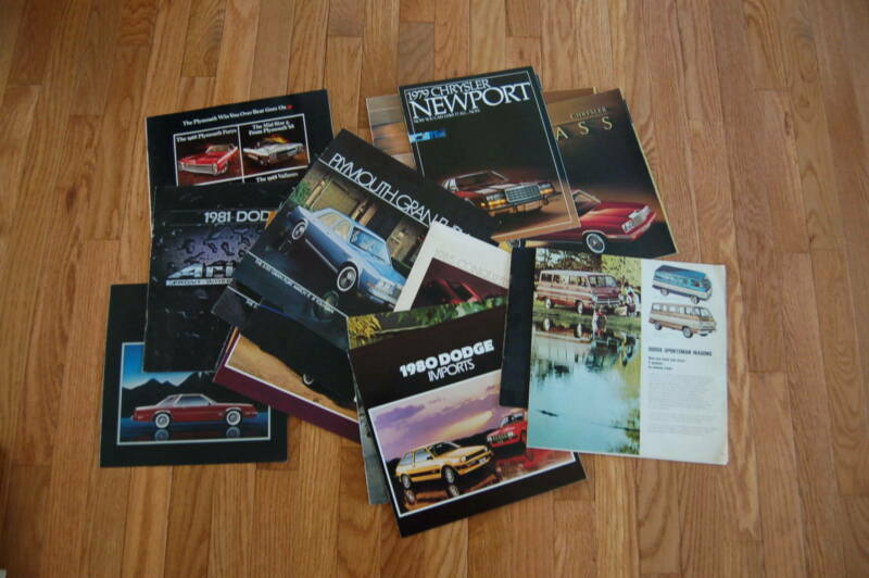 Group of 21 Vintage Vehicle Brochures - Chrysler, Plymouth, Dodge