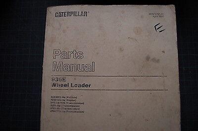 Cat Caterpillar 936e Wheel Loader Parts Manual Book Catalog 1991 Spare Front End
