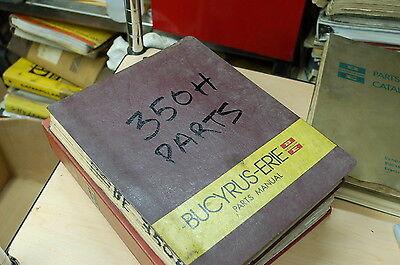 Bucyrus Erie 350h Crawler Excavator Trackhoe Spare Parts Manual Book Catalog