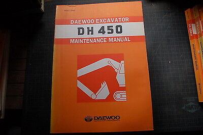 Daewoo Dh450 Trackhoe Crawler Excavator Repair Shop Service Maintenance Manual