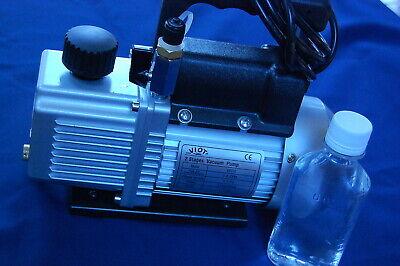2-stage High Performance Rotary Vane Deep Vacuum Pump 2cfm Check Valve Hvac Tool