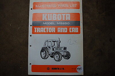Kubota M5950 Cab Tractor Parts Manual Book Catalog List Spare Farm 1985 Factory