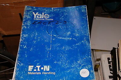 Yale Model Erct 3 Wheel Electric Forklift Parts Manual Book Catalog List Spare