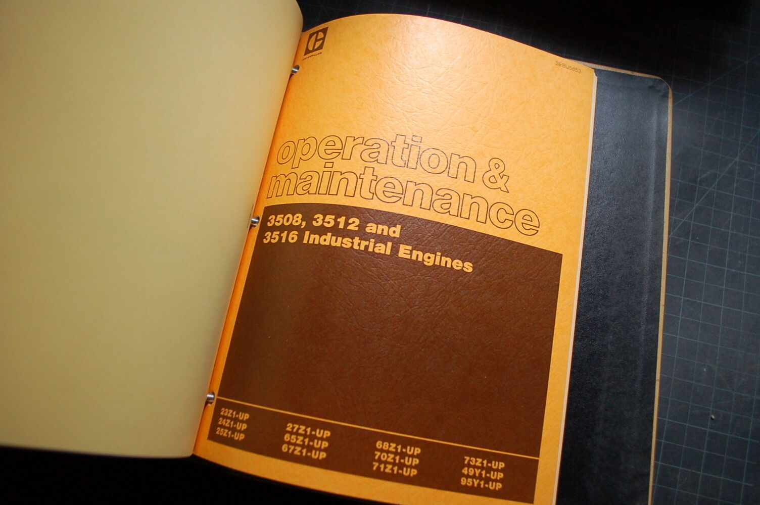 6 of 7 CAT Caterpillar 3508 3512 Industrial Engine Repair Service Manual  shop diesel