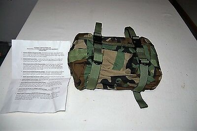 USGI US MILITARY WOODLAND CAMO MOLLE II COMPATIBLE  WAIST PACK BAG NO BELT ALICE