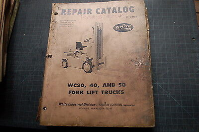 White Wc30 Wc40 Wc50 Forklift Parts Manual Book Catalog Spare List Owner Truck