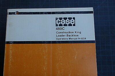 Case 480c Construction King Backhoe Loader Owner Operator Maintenance Manual