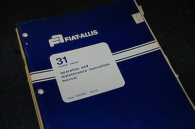 Allis Chalmers 31 Tractor Crawler Dozer Owner Operator Operation Manual Book Ac