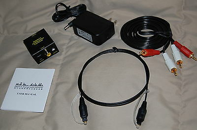 Digital Optical Toslink Spdif Coax To Analog L/r Rca Audi...