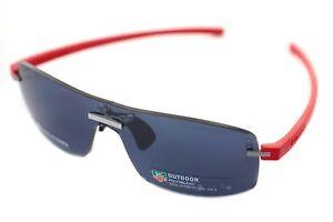 TAG HEUER RIMLESS REFLEX 3591 102 Men Wraparound SPORT Sunglasses RED GREY RARE!