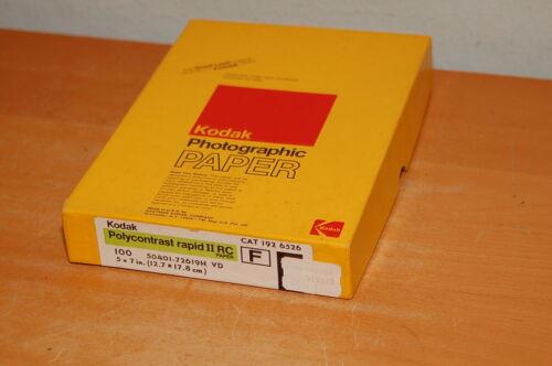 Sealed 100 Sheets Kodak 5x7 Polycontrast Rapid II RC Photo Paper F