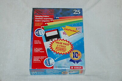 Pendaflex - 25 Hanging File Folders Letter Size Assorted Colors 4152 15 Asst