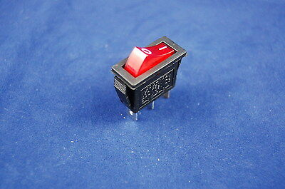 5pcs Red Light Illuminated Rectangle 2 Position Boat Rocker Switch 3 Pin 120v