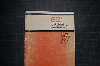 Case 580ck Backhoe Loader Operation Operator Manual Book Guide Shop Tractor Oem