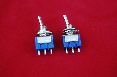 Lot Of 10 Spdt Miniature Toggle Switches On-off-on Maintained
