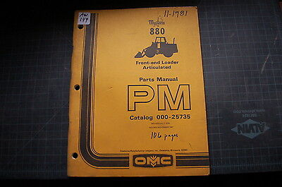 Mustang 880 Front End Wheel Loader Parts Manual Book Catalog 1981 List Spare Omc