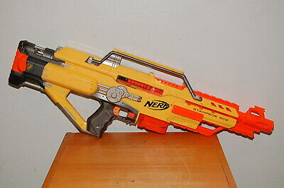Nerf N-Strike Stampede ECS Battery Operated Gun Yellow Orange