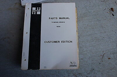 Hyster W5b Towing Winch Parts Manual Book Catalog Tractor Spare Dozer Crawler D5