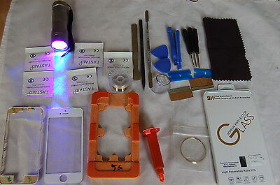 iPhone 5 Blanco Profesional Kit de Reparación de Vidrio, Pantalla Frontal  comprar usado  Enviando para Brazil