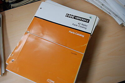 Case Vibromax 62 Walk Behind Compactor Roller Parts Manual Book Catalog Oem 1990