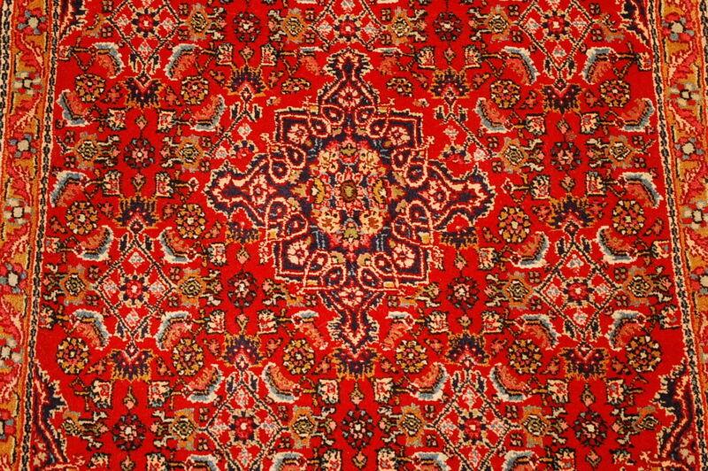 C1930s Antique Highly Detailed Herati Design Kork Wool Prsian Bijar Rug 2.4x2.9