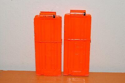 Lot of 2 Nerf 12 Round Clip Solid Orange Modulus