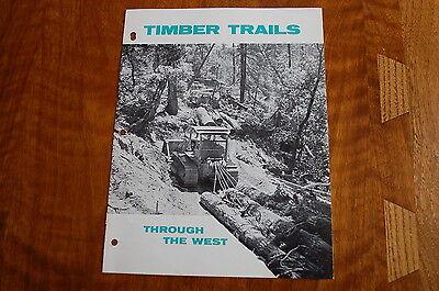 Caterpillar Timber Trails Logging Sales Brochure Vintage Rare Old Skidder Dozer