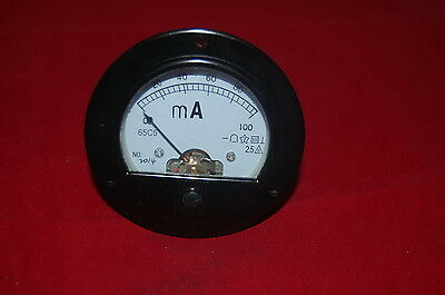 Dc 0-100ma Round Analog Ammeter Panel Amp Current Meter Dia. 90mm Direct Connect
