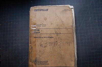 Cat Caterpillar 773b Dump Truck Part Manual Book Catalog 63w Rock Quarry Spare
