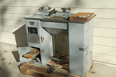 Original Pedestal Levin Hd Precision Instrument Lathe Watchmaker Jewelers Tool
