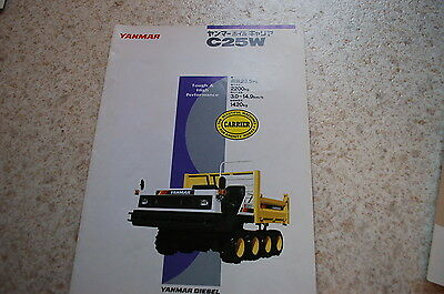 Yanmar C25w Mini Dump Truck Dealer Sales Brochure Japanese Carrier Vintage Micro