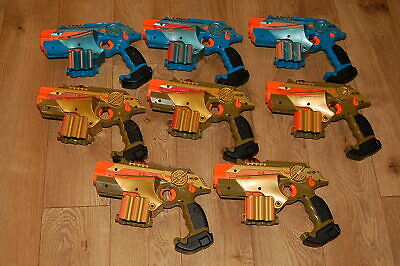 Lot of 8 Nerf TIGER ELECTRONICS LAZER TAG BLASTER GUNS PHOENIX LTX  AS-IS