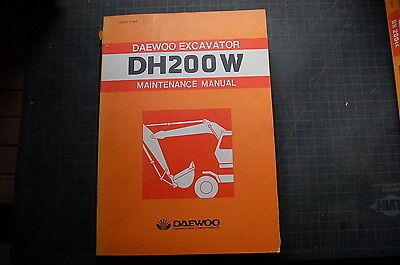 Daewoo Dh200w Wheeled Excavator Repair Shop Service Maintenance Manual Owner Oem