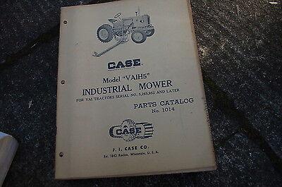 Case Vaih5 Tractor Mower Parts Manual Book Catalog Spare List 1014 Farm Vintage
