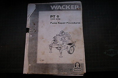 WACKER PT6 TRASH PUMP Service Repair Shop Manual diesel pumpset centrifugal book - 6 Trash Pump