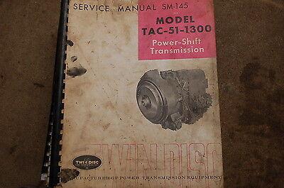 Twin Disc Tac 51 1300 Power Shift Transmission Repair Service Manual Overhaul