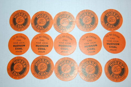 Set of 15 Hudson Coal Company Scatter Tags  Original Old Stock