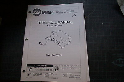 Miller Dvc-1 2 Welding Welder Parts Operation Owner Manual Book Operator Tig Mig