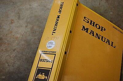 Komatsu D375a 2 Tractor Dozer Crawler Service Manual Book Repair Overhaul Shop