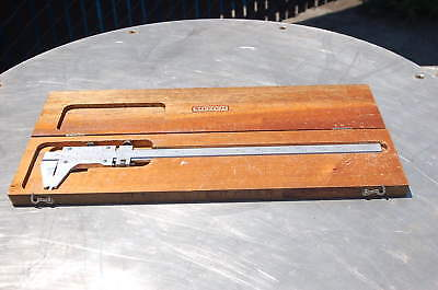 Starrett Master Vernier Caliper 123 Oak Case 14 Cal