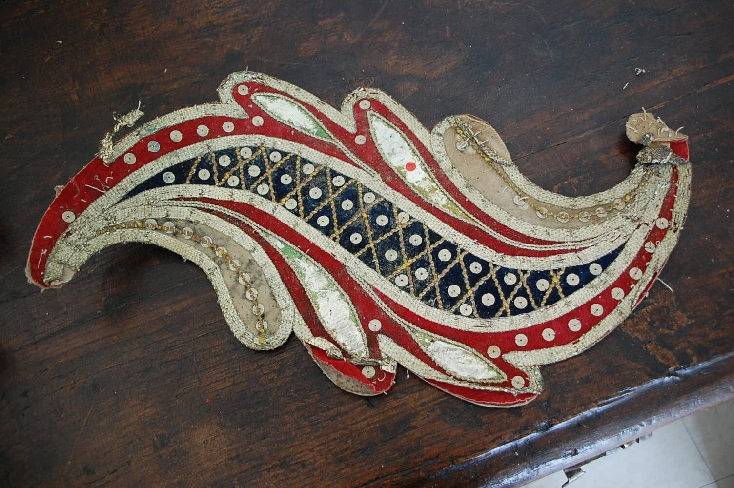 19th Century Embroided Applique