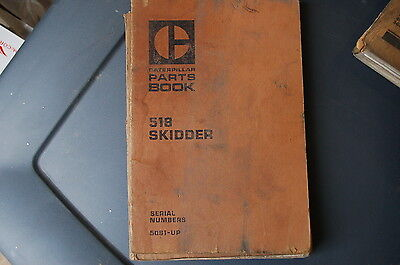 Cat Caterpillar 518 Grapple Skidder Parts Manual Book Spare List 1971 Log Wheel