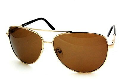 UV2985PL Gentleman and Lady Polarized Sunglasses Brown Aviator Buy 1 Get 1 Free (Buy Aviators)